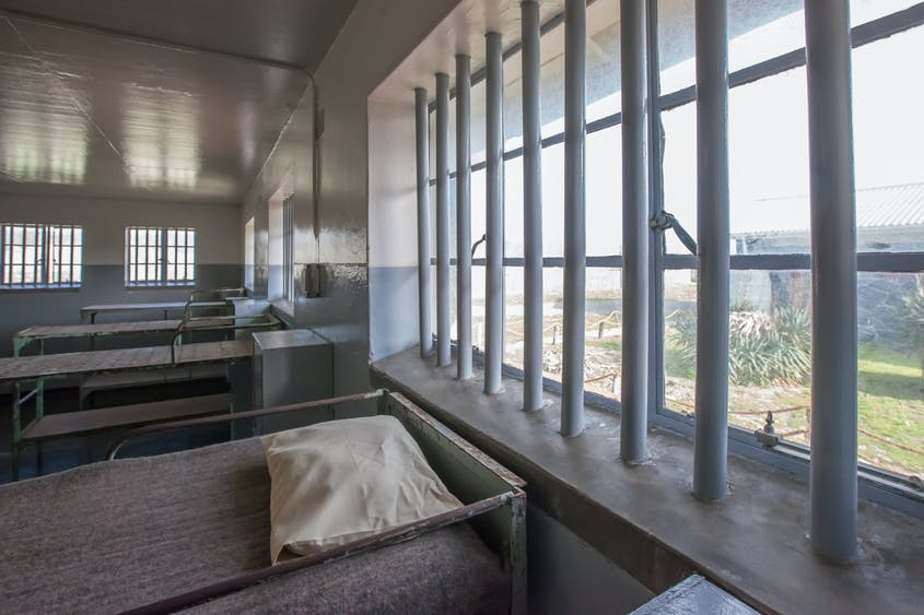 Today, visitors can take guided tours of the cells at Robben Island, where Mandela spent 18 years of his 27-year prison sentence.