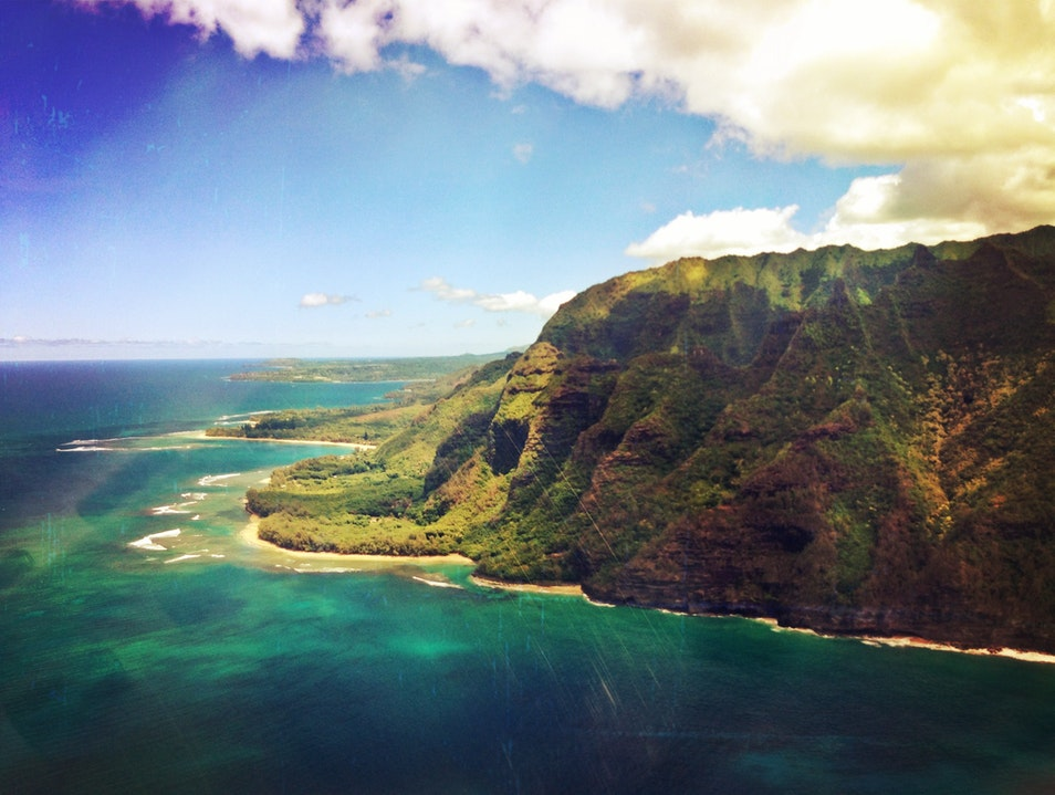 A Helicopter Tour of Kauai Island Lihu'e Hawaii United States