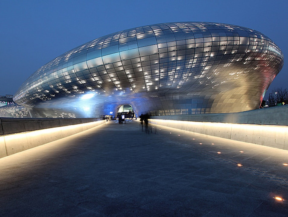 Out of This World Design: Dongdaemun Design Plaza and Park Seoul  South Korea