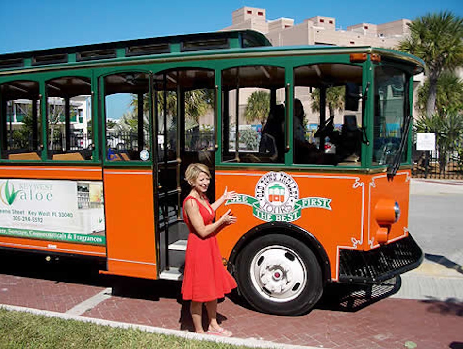 Hop on the Town Trolley Tour