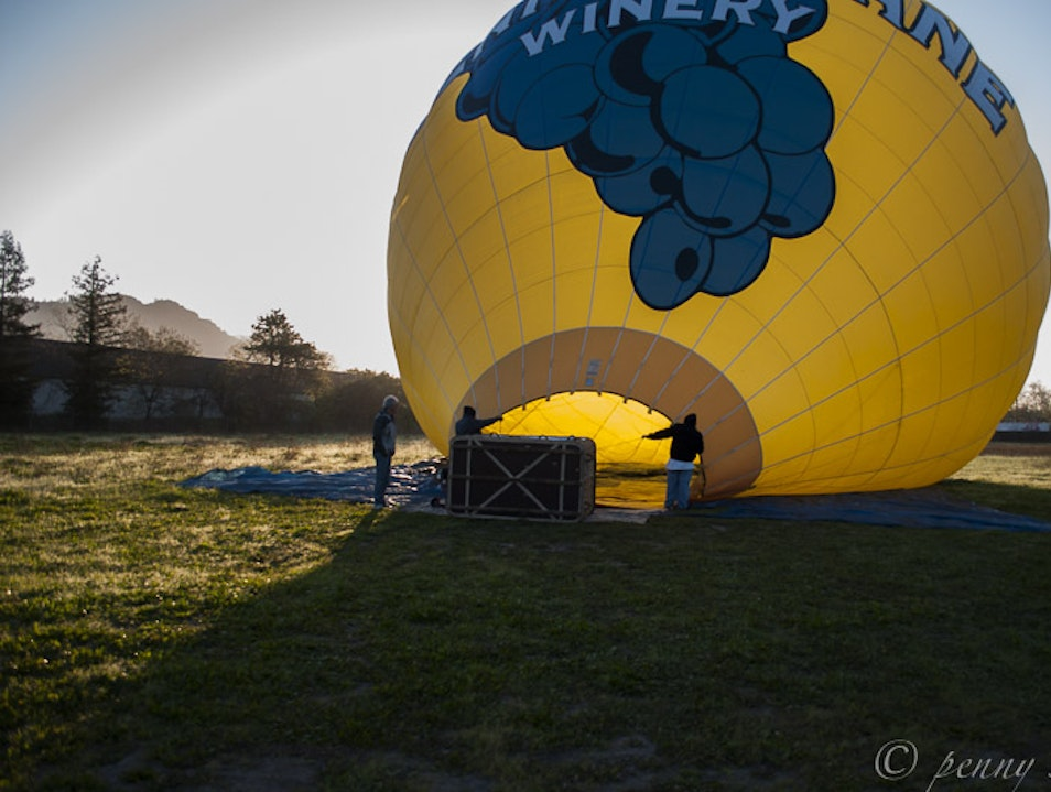 Flying Over Napa Valley Calistoga California United States