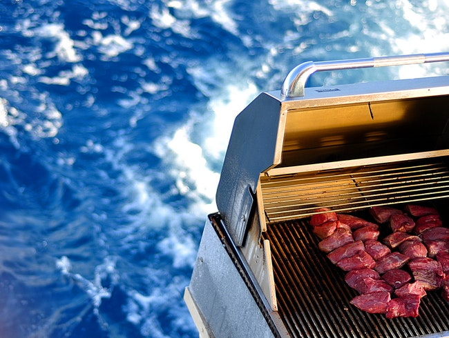 Barbeque on the Pacific Ocean