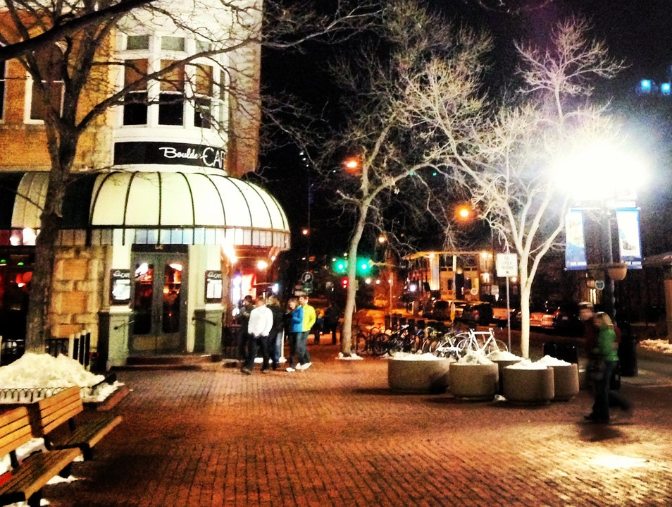 Mid-Winter's Walk in the Heart of Boulder Boulder Colorado United States