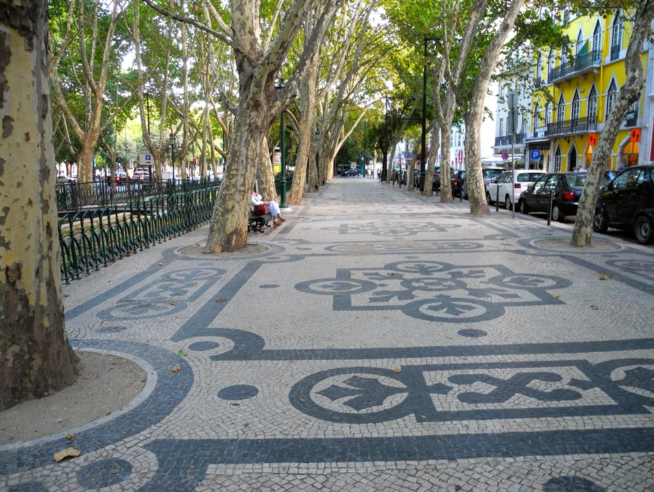 THE SIDEWALKS OF LISBON Lisboa  Portugal