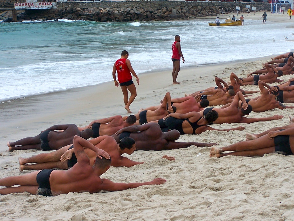 Lifeguard training on Copacabana