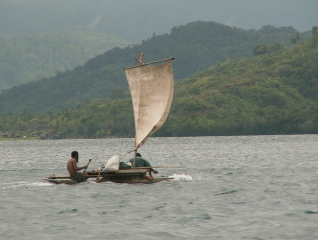 Traditional sailing in Lae