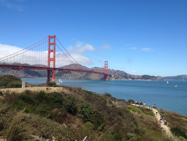 Rare Fog-free Sunshine At Golden Gate