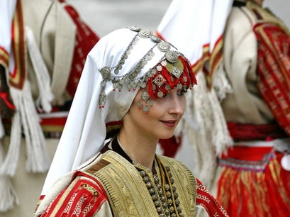 Traditional wedding dress of Galicnik Galichnik  Macedonia (FYROM)