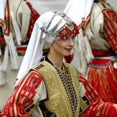 Traditional wedding dress of Galicnik