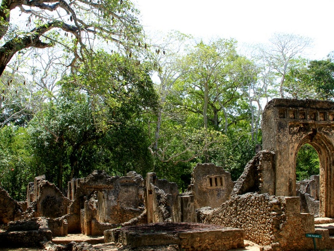 The Gede Swahili Ruins outside Malindi, Kenya