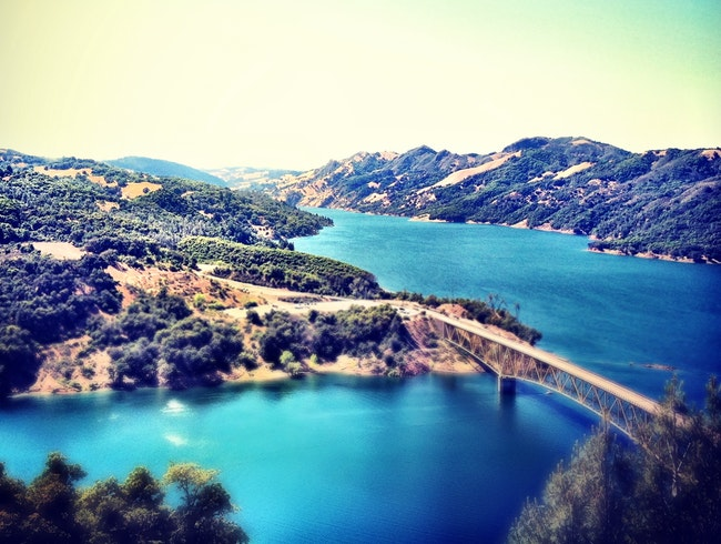 Overlooking Lake Sonoma in Sonoma County, California