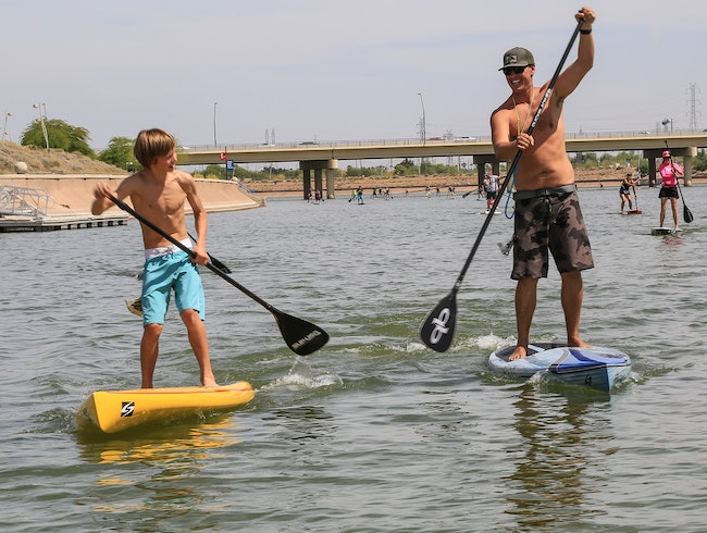 Stand Up Paddleboarding in Mesa