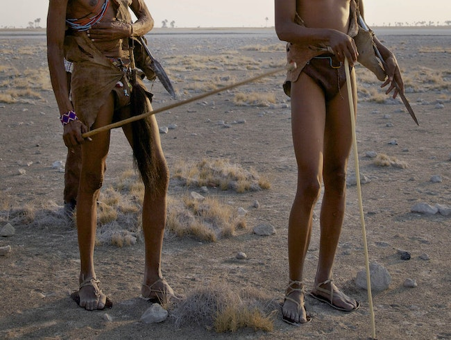 Meet the local tribesman of the Kalahari