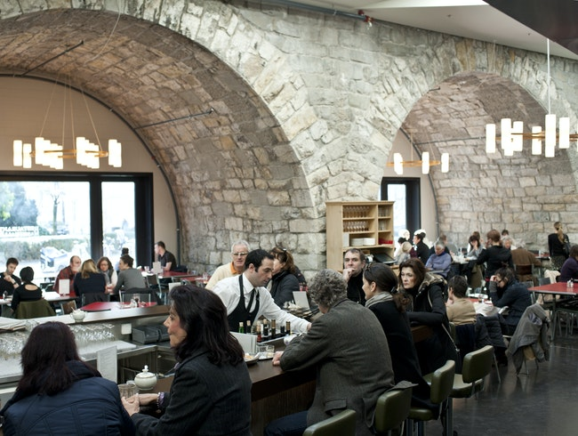 Dining in Zurich's First Permanent Covered Market