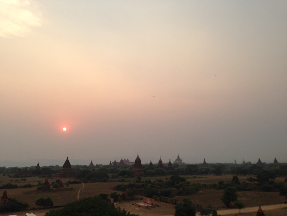 Sunset view of old Bagan Nyaung-U  Myanmar