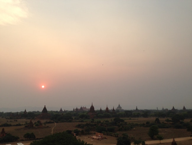 Sunset view of old Bagan