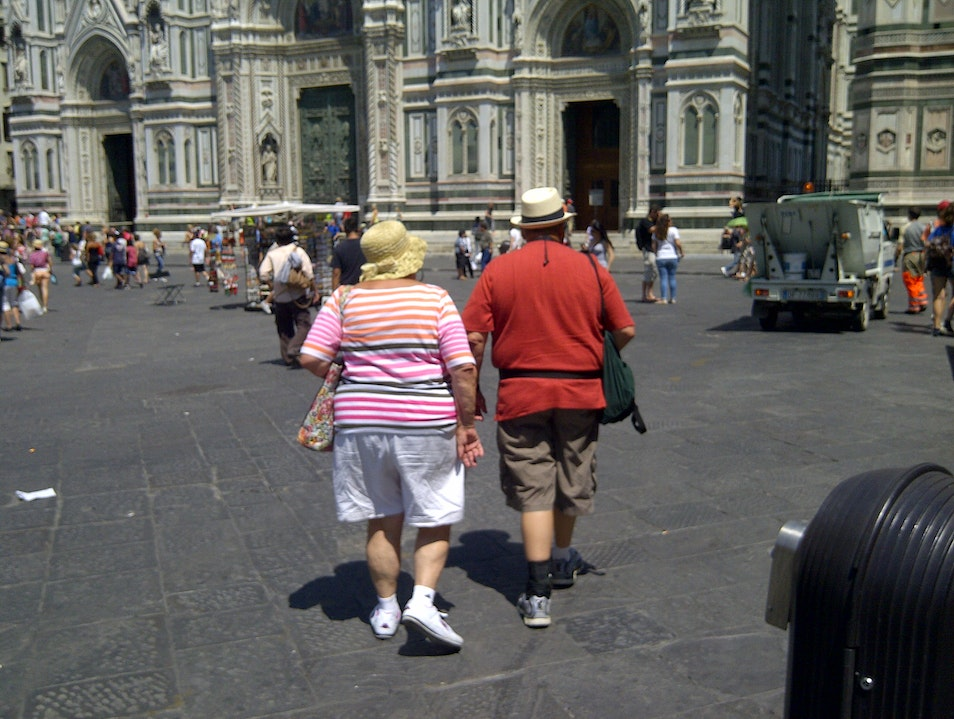 The Tourists Florence  Italy