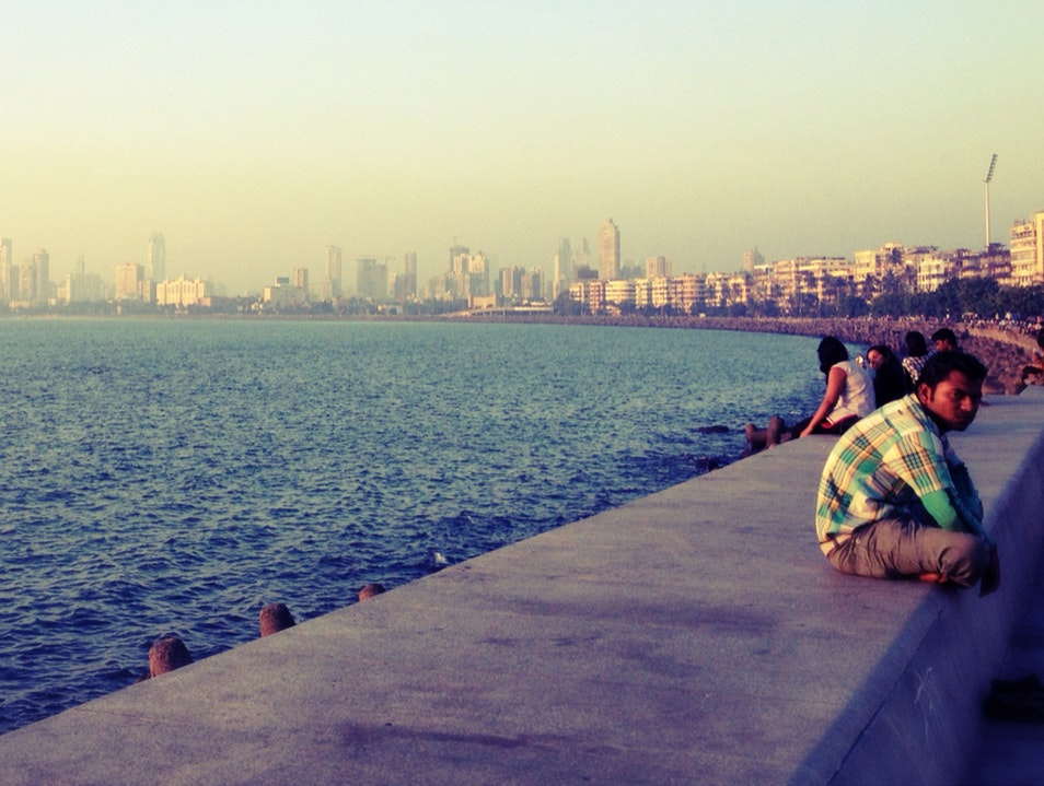 Marine Drive Sunset Mumbai  India