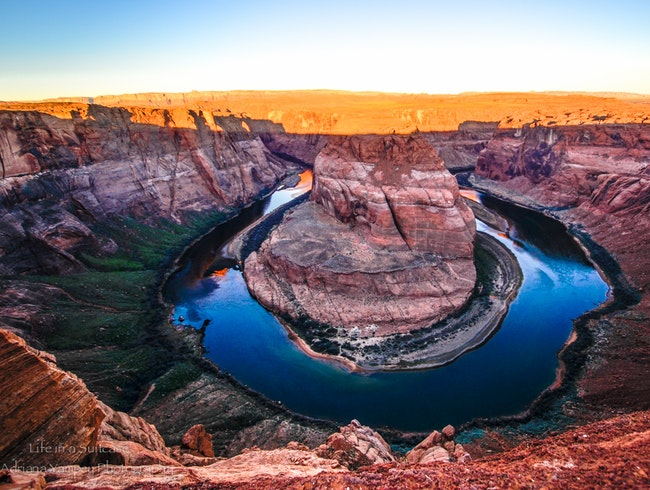 First light at Horseshoe Bend