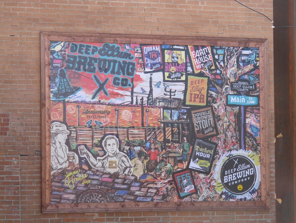 Great beer in an arty neighborhood  Dallas Texas United States