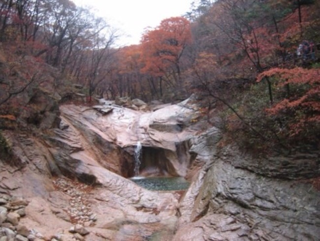 Hiking In Late Autumn In South Korea