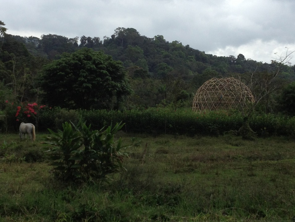 Watching the building of & completion of the geodesic dome El Castillo  Costa Rica