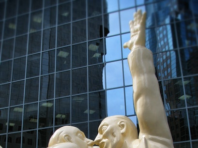 The Illuminated Crowd sculpture Montreal  Canada