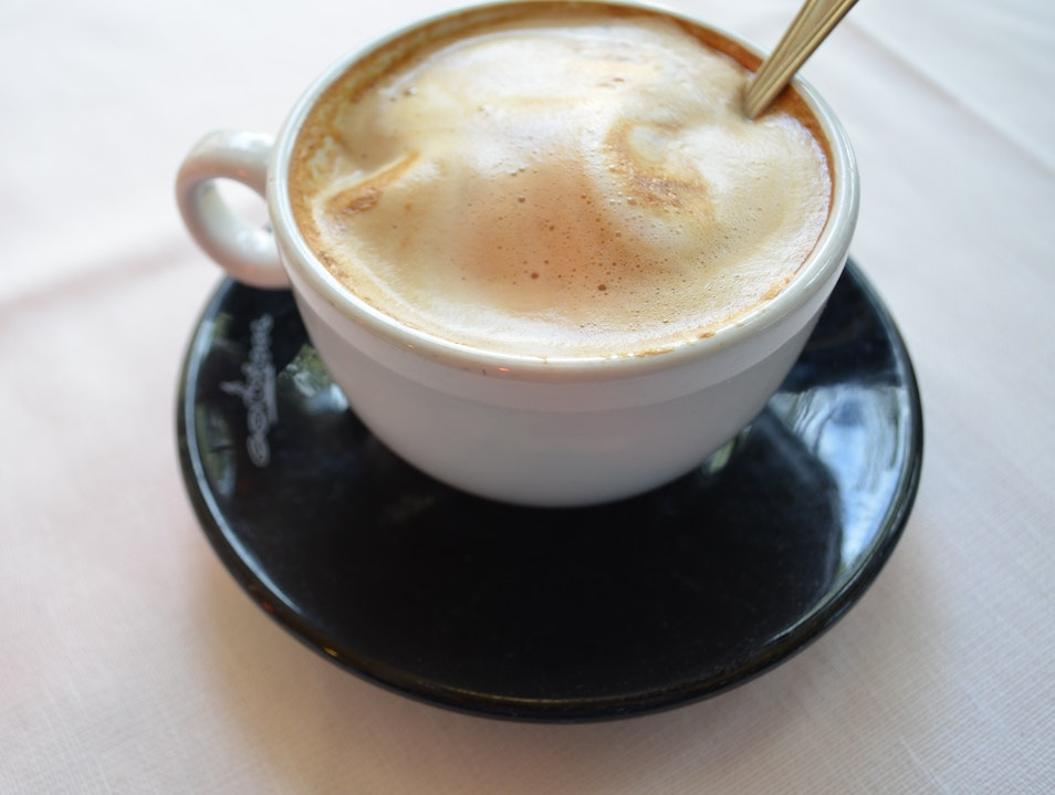Cappuccino in the piazza