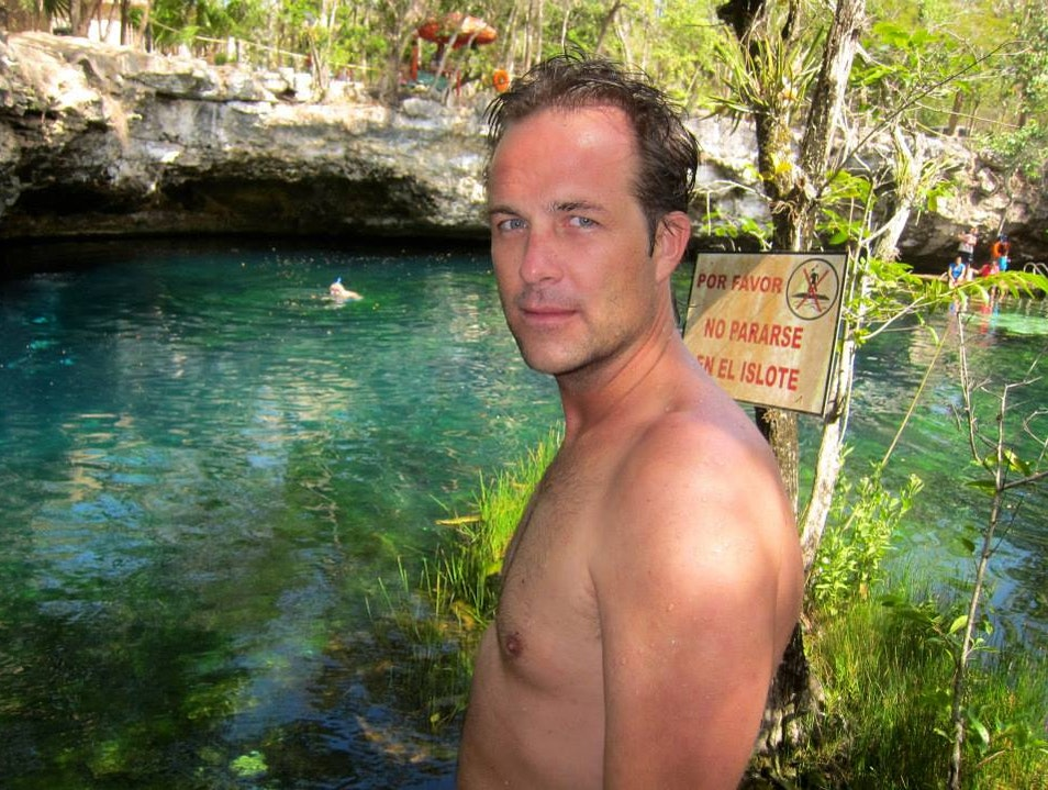 Blue Eyes Blue Green Cenote Xelha  Mexico