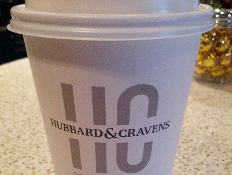 Great local coffee at Hubbard and Cravens