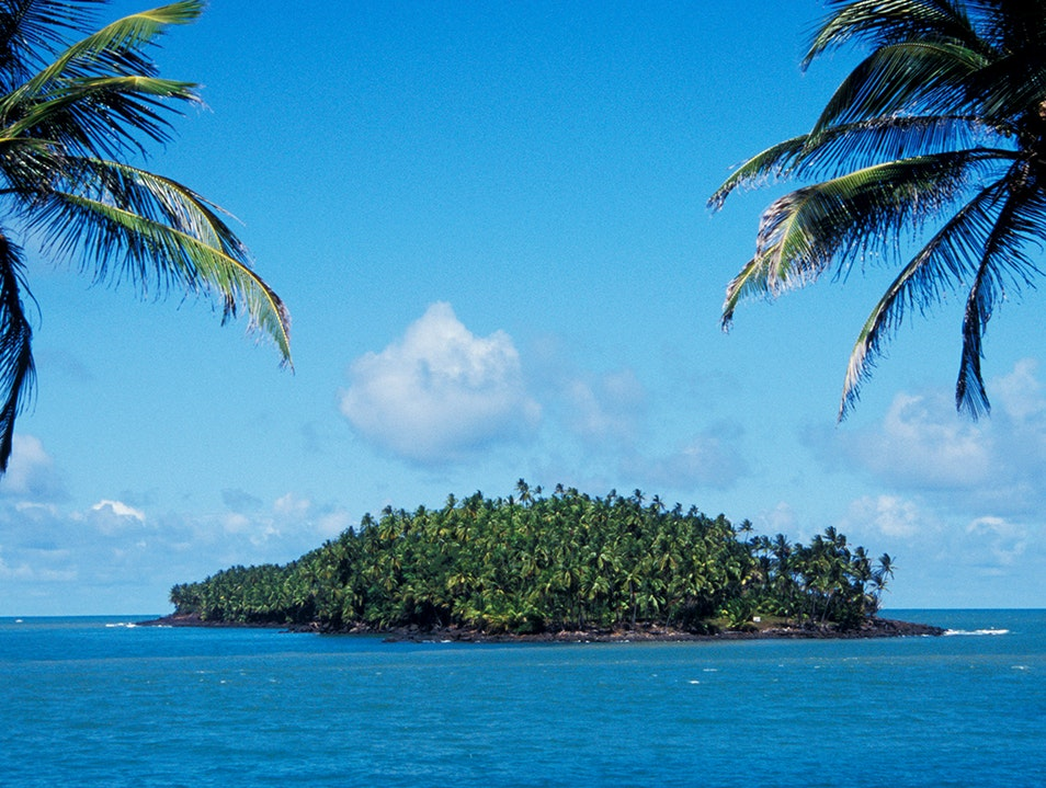 View of Devil's Island from the sea   French Guiana