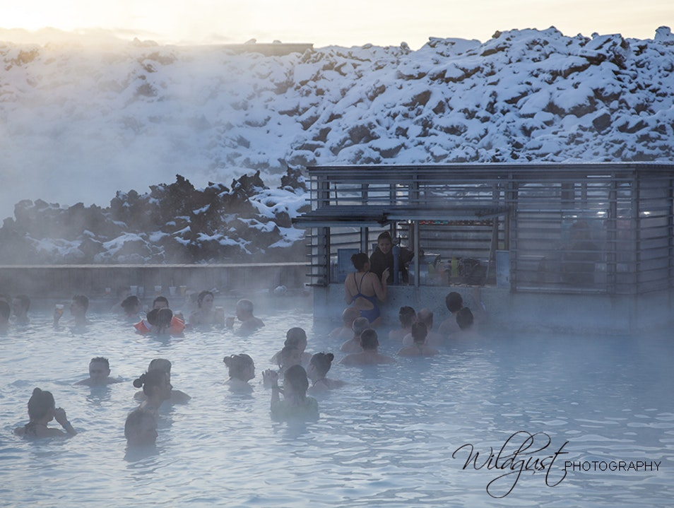 A dip in the Blue Lagoon Southern Peninsula Region  Iceland