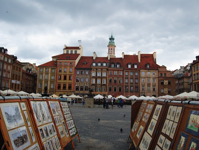 wandering through Warsaw's old town