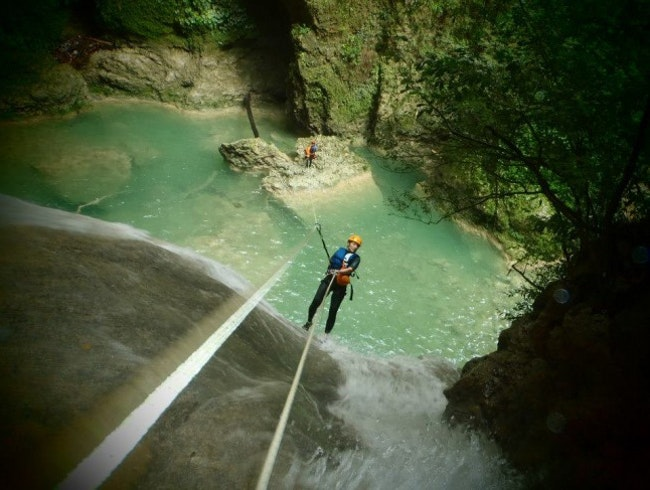 Canyoning the Big Bastard in Cabarete
