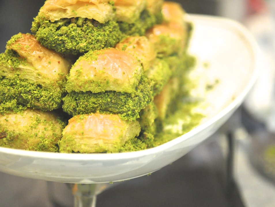 Eat Your Greens - Pistachio Baklava at Develi! Istanbul  Turkey