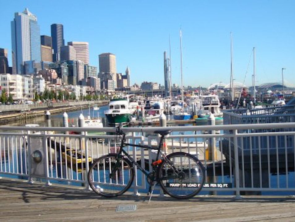 Bicycling on the waterfront