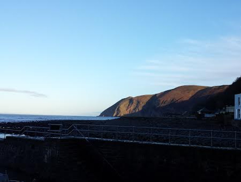 A Winter's drive in Exmoor Lynmouth  United Kingdom