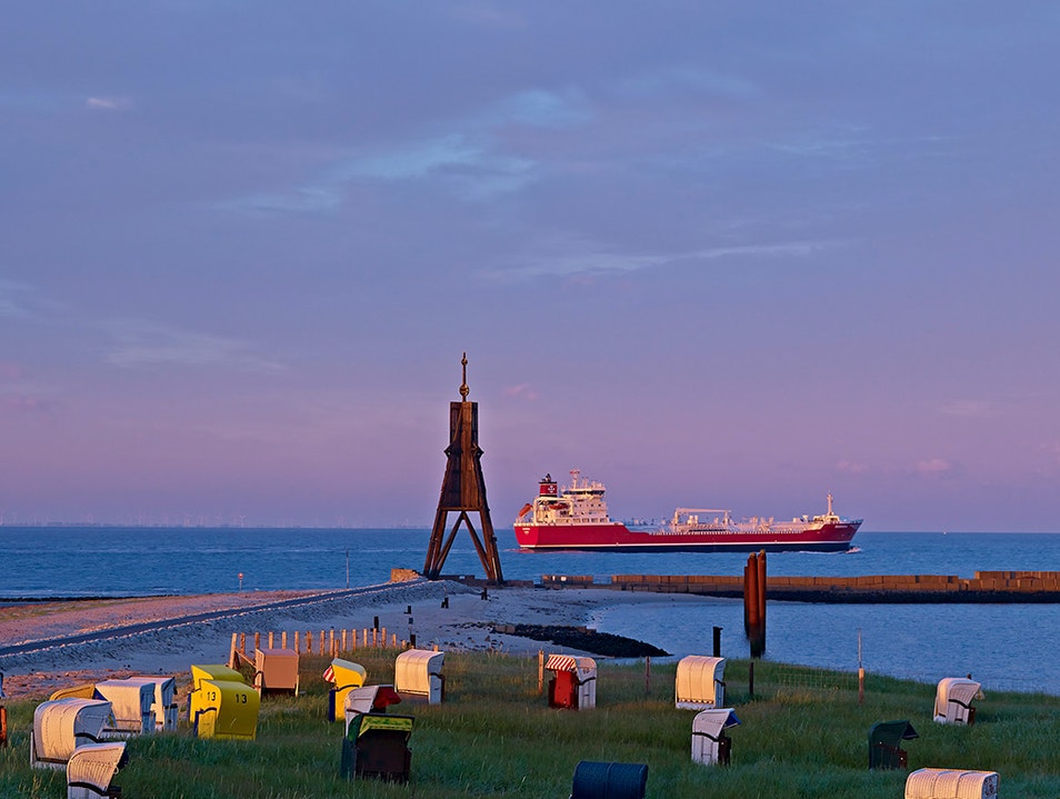 Mouth of the Elbe River Cuxhaven  Germany