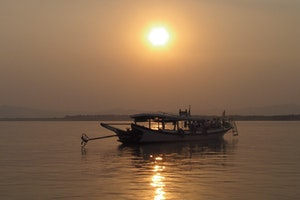 Irrawaddy River, Bagan Myanmar