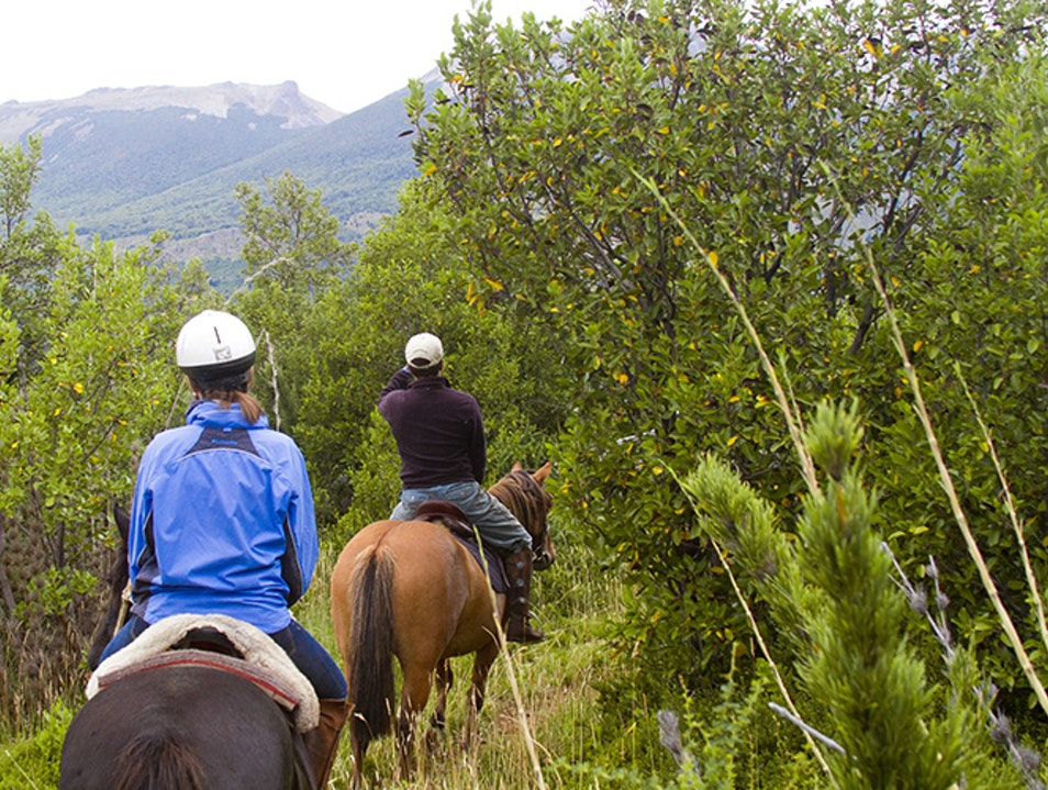 Ride on Horseback Across the Andes Pucón  Chile