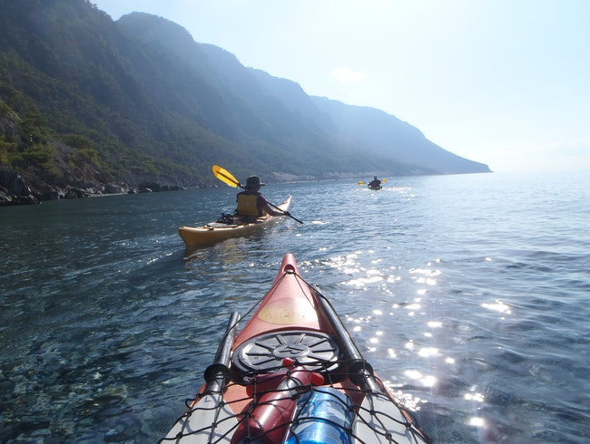 Kayaking to Loutro from Agia Roumeli