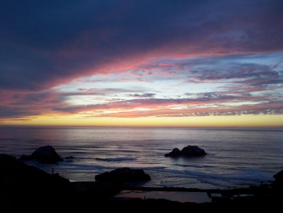 Sunset at Sutro Baths  San Francisco California United States