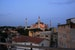 Hagia Sophia at sunset from a rooftop terrace