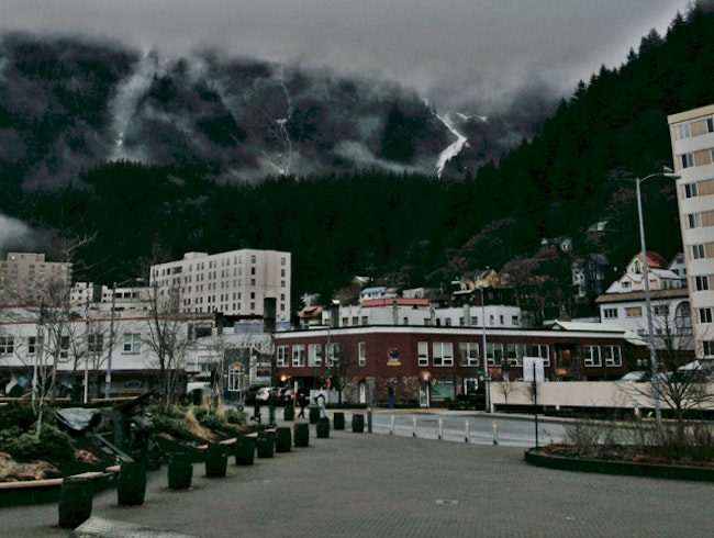 Juneau, Alaska in late January