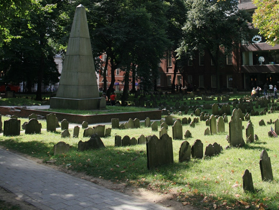 The Old Granary Burying Ground   Boston Massachusetts United States