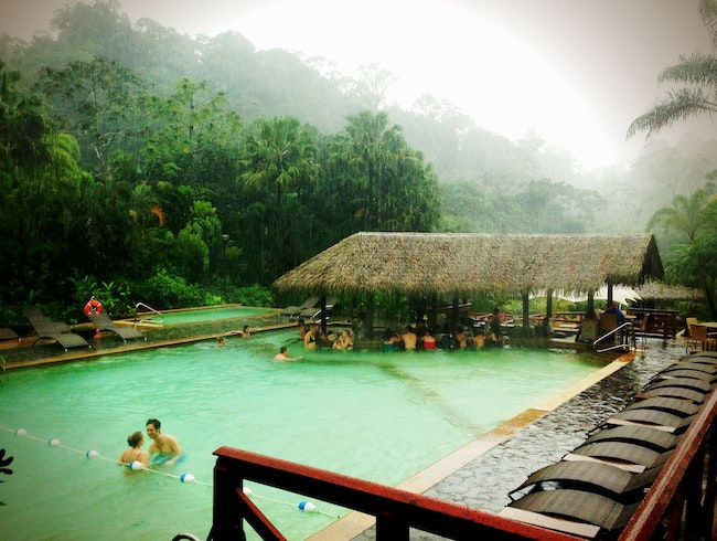 Hot Springs Cocktail Hour in Arenal, Costa Rica