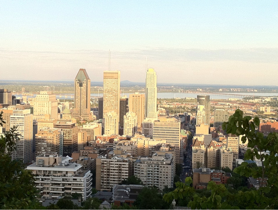 On top of Mt-Royal Montreal  Canada