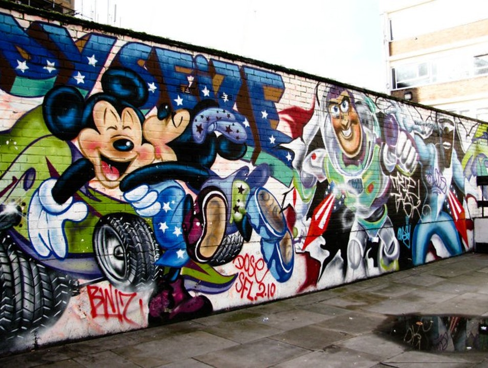 A Disney Wall in London London  United Kingdom
