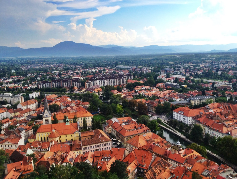 A View from Above Ljubljana  Slovenia