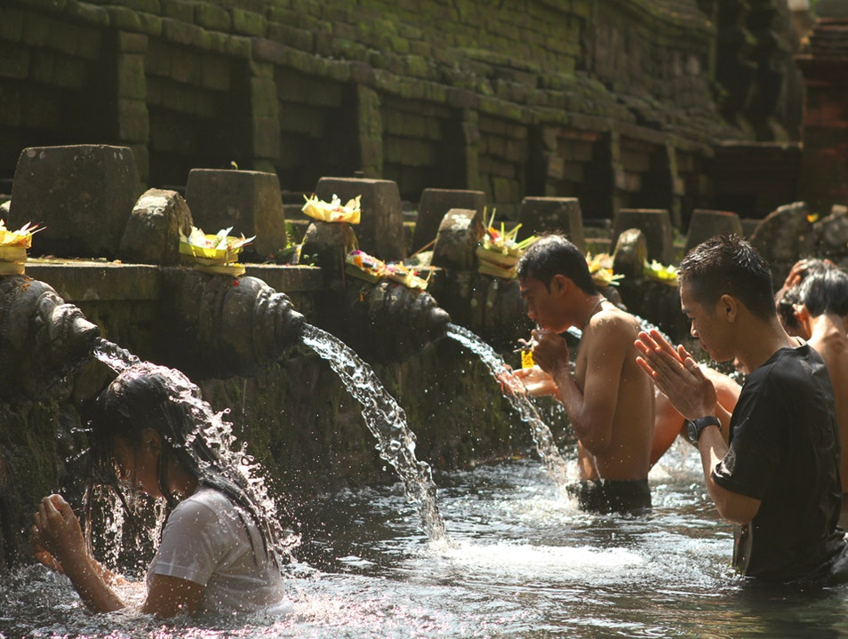 Prayers at Tirta Empul Ubud  Indonesia